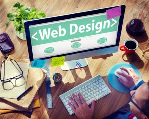 Man doing web design