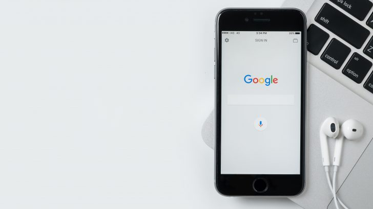 iPhone showing Google search screen