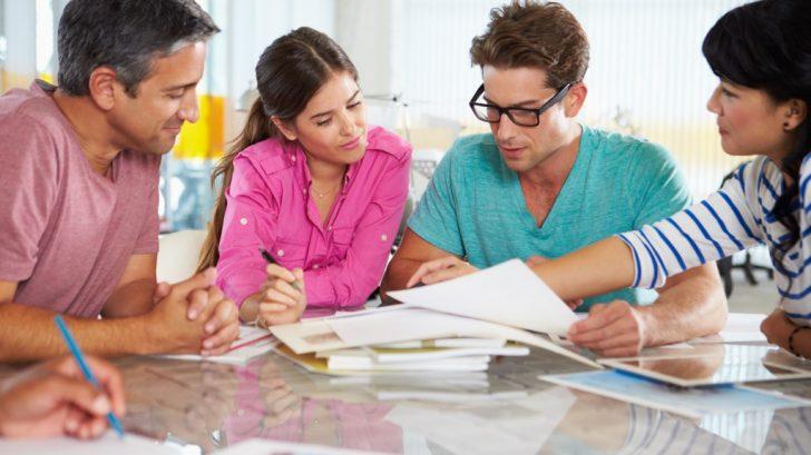 Team discussing a creative PR plan