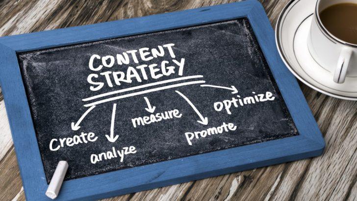 Content Strategy Written on Blackboard
