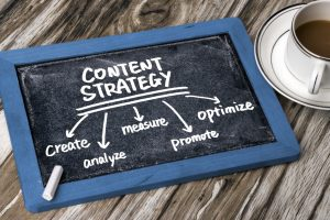 Content Strategy Written on Blackboard
