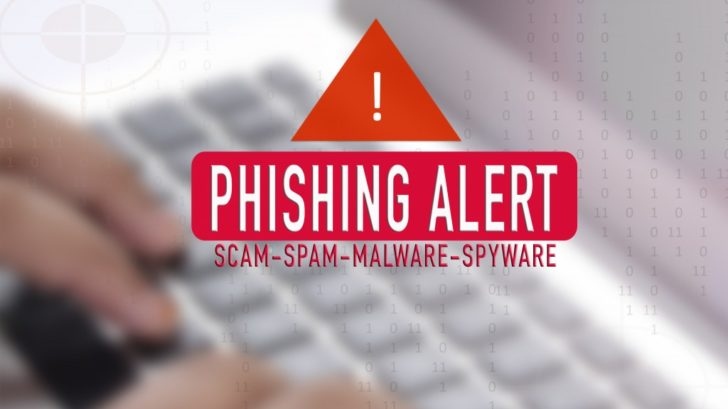 Phishing alert notification